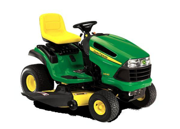 John Deere LA145 Riding mower with trailer - $1000