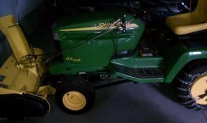 John Deere Lawn Mower Tractor GX345 w snowblower - $4750 Roca, NE