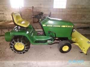 John Deere Lawn Tractor with Snow Blade - $900
