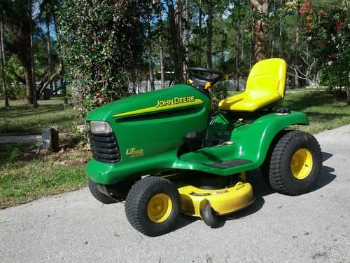 John deere riding lawn tractor lt 160 for sale in naples for Garden machinery for sale
