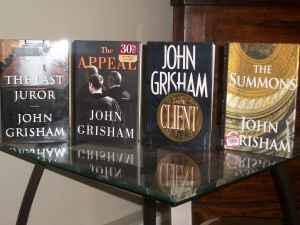 John Grisham Books - $15 Oshkosh