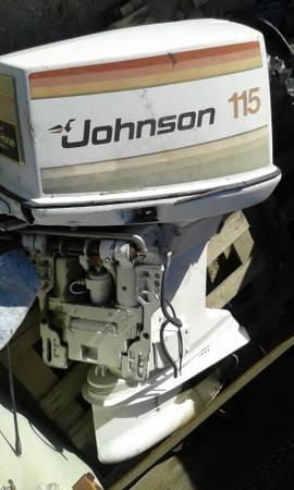 Johnson 115 outboard boat motor - $750