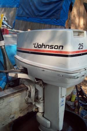 Johnson 25hp outboard motor short shaft for sale in for New johnson boat motors for sale