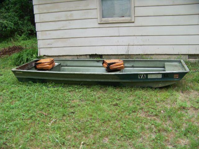Jon boat Montgomery Wards Seaking 12FT aluminum flat bottom for