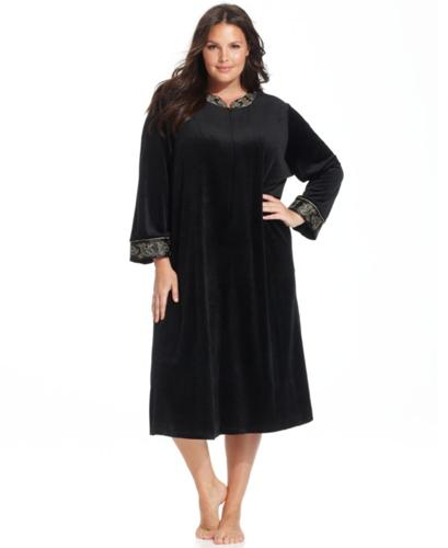 Jones New York Plus Size Steam Velour Zip Robe for Sale in ...