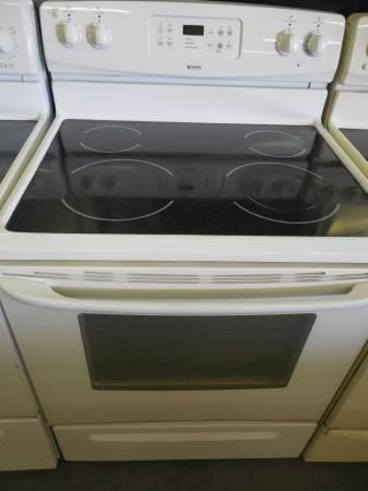 JUST IN THIS AWESOME Kenmore Used White Glass Top