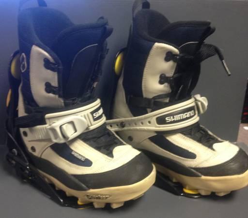K2 Shimano Clicker Bindings And Boots- Mens 8