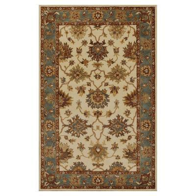 Area Rug For In Wichita Kansas Kas Rugs Antiquity Oushak Ivory Blue 3 Ft X 5