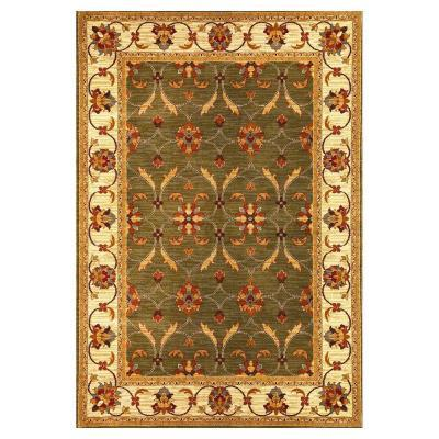 Kas Rugs State of Honor Green/Ivory 3 ft. 11 in. x 5