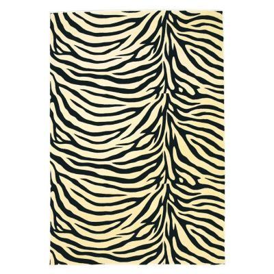 Kas Rugs Zebra Beige 5 ft. 3 in. x 7 ft. 7 in. Area Rug