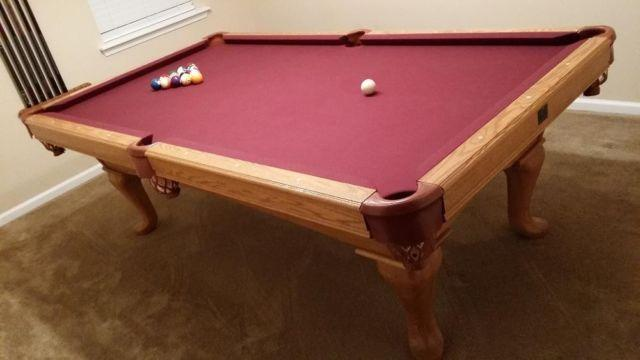 Kasson Sleight Pool Table, Maroon Felt For Sale In Jacksonville, Florida
