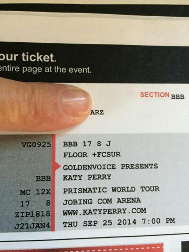 Katy Perry Floor Seats (4)