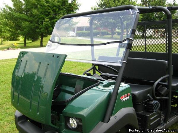 kawasaki mule 4010 trans polycarbonate lexan utv windshield on sale usa made for sale in venice. Black Bedroom Furniture Sets. Home Design Ideas