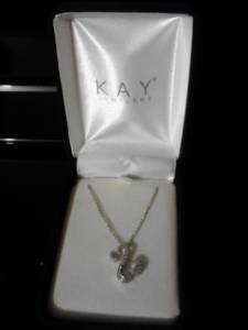 Kay Jewelers Open Heart Necklace Elgin For Sale In