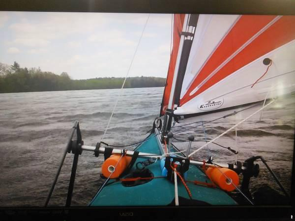 Kayak Sailor 1  4m upwind sail w/genoa - $650