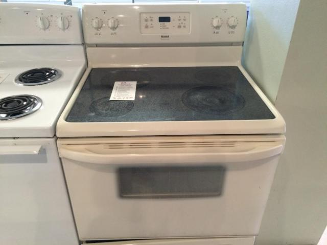 Kenmore bisque smooth top range stove oven used for sale for Lakewood wood stove for sale
