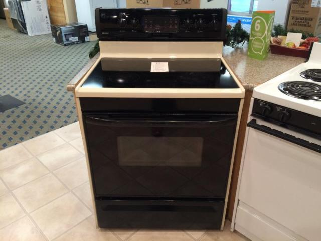 Kenmore black bisque smooth top range stove oven used for Lakewood wood stove for sale