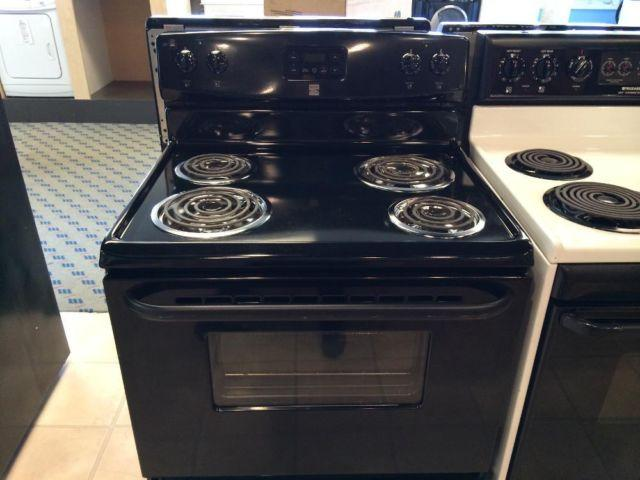 Black Electric Stove ~ Kenmore black electric range stove oven used for sale in