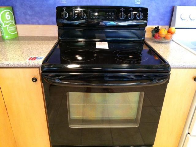 Kenmore Black Smooth Top Range Stove Oven Used For Sale