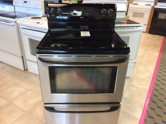 Kenmore Black Amp Stainless Smooth Top Range Stove Oven