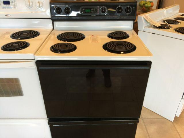 Kenmore black white range stove oven used for sale in for Lakewood wood stove for sale