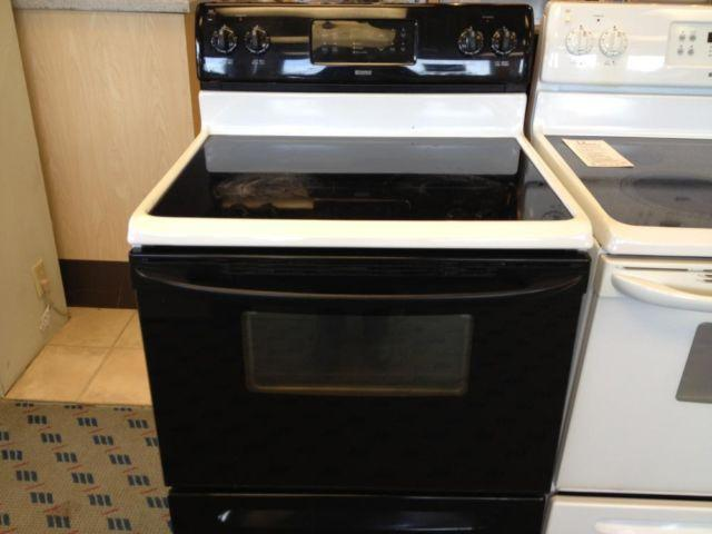 Kenmore Black Amp White Smooth Glass Top Range Stove Oven