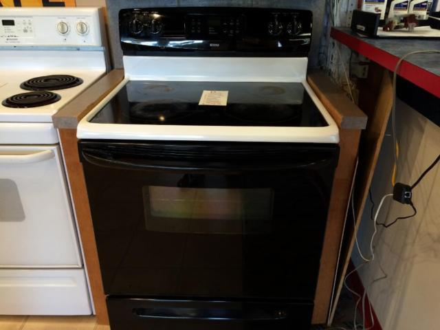 Kenmore black white smooth top range stove oven used for Lakewood wood stove for sale