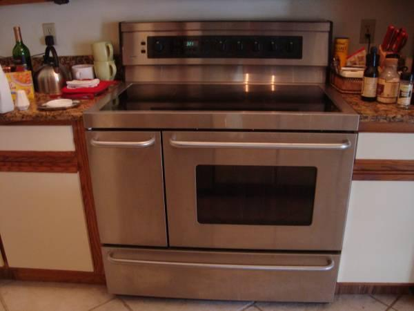 Kenmore Elite Double Oven Glass Top Range For Sale In