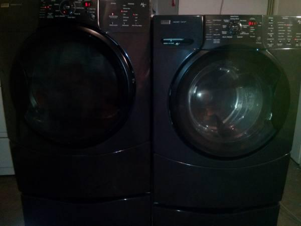 Kenmore Elite H 4 Front Load Washer Dryer Set Black