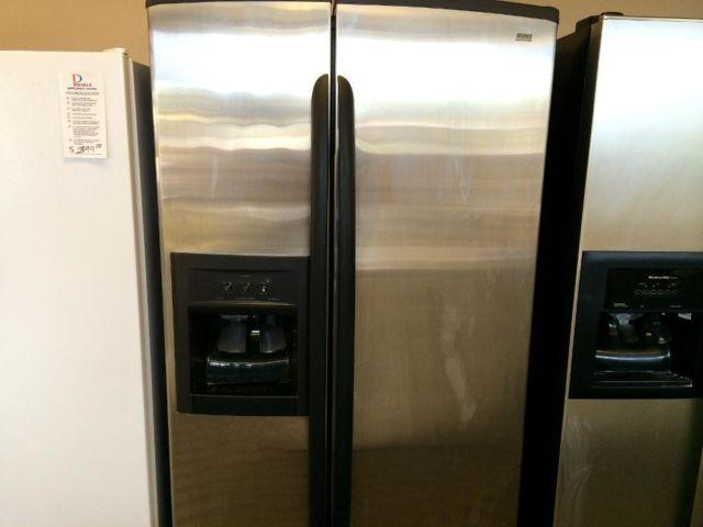 Kenmore Elite Stainless Side By Side Refrigerator Used