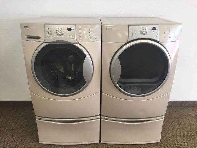 Kenmore Elite Washer And Dryer With Stands For Sale In