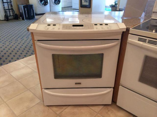 Kenmore Elite White Slide-In Glass Top Range Stove Oven ...