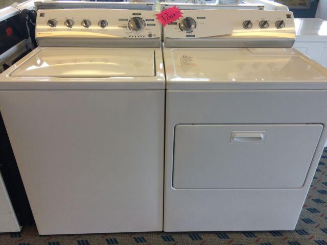 kenmore he top load washer u0026 dryer set pair used