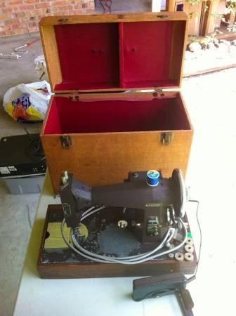 Kenmore Sewing Machine, foot pedal, and Box - $50