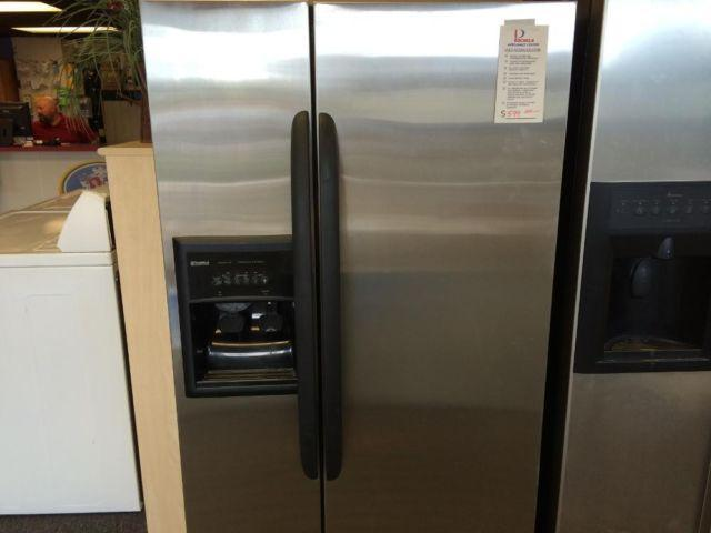 Kenmore Stainless Side By Side Refrigerator Used For
