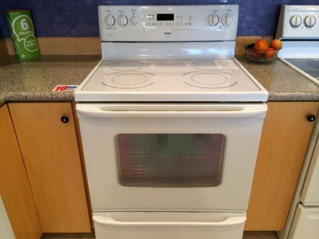 how to clean white stove top