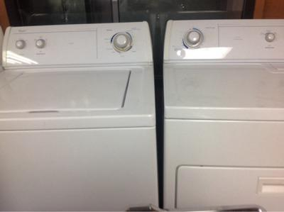 Kenmore washer and dryer. Whirlpool washer and dryer