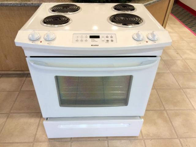 Kenmore white convertible electric range stove oven used for Lakewood wood stove for sale