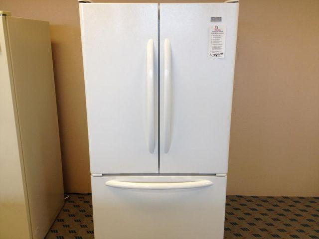 Kenmore White French Door Refrigerator Bottom Freezer