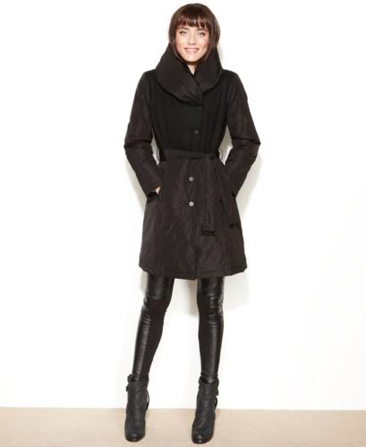 Kenneth Cole Reaction Coat, Mixed-Media Wool-Blend
