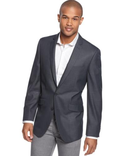 Kenneth Cole Reaction Jacket, Navy Check Slim Fit