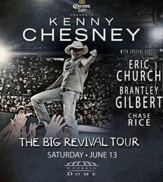 Kenny Chesney - The Big Revival Tour Sat June 13 4