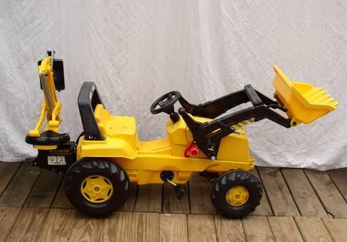 Metal Pedal Tractor Loader : Kettler cat pedal front loader with backhoe for sale in
