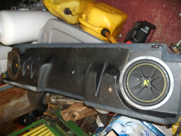 kicker box for x-cab chevy 92 - $150