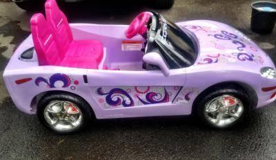Kid Trax C6 Electric Ride On Purple Corvette For Sale In
