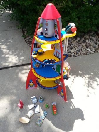 KidKraft Fun Explorers Wood Rocket Ship Play Set - $40
