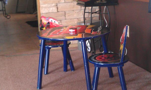 Kids Cars table and chairs $30 - $30