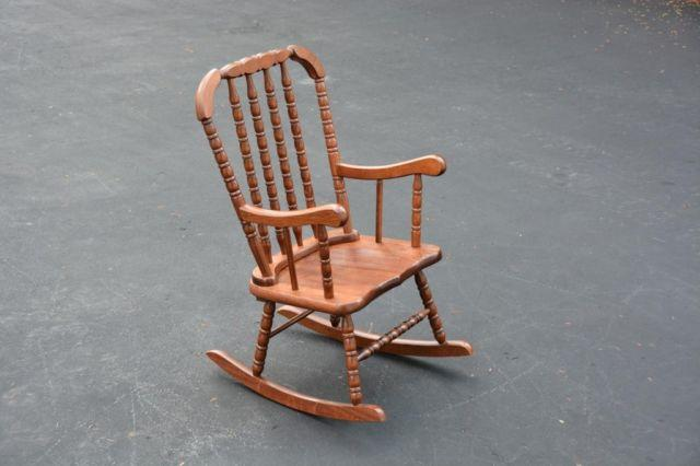 KIDS CHILDS JENNY LIND STYLE WOOD ROCKING CHAIR ROCKER & KIDS CHILDS JENNY LIND STYLE WOOD ROCKING CHAIR ROCKER for Sale in ...