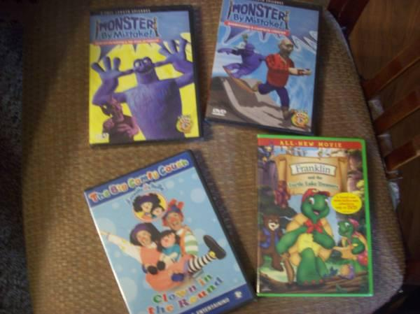Kids movies, DVDs new - $3