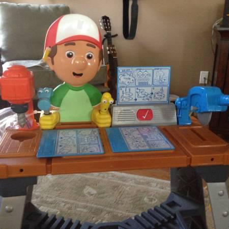 Kids tool bench with tools and building sets. - $46